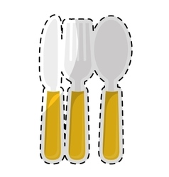 dining cutlery icon image vector image vector image