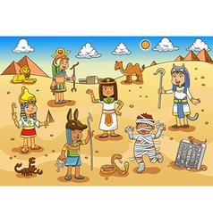egypt child cartoon vector image