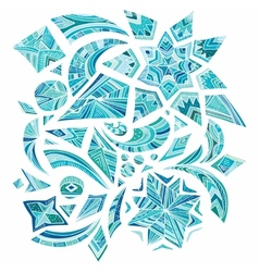 Pink aztec winter design elements vector image vector image