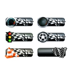 Racing banners set vector image vector image