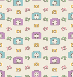 Seamless Hipster Background with Cameras Vintage vector image vector image