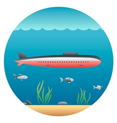 Submarine Detailed vector image vector image