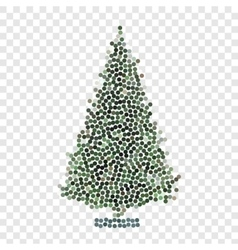Abstract creative concept icon of christmas vector image vector image