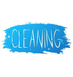 cleanind design vector image