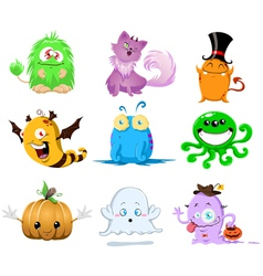 halloween monsters pack vector image vector image