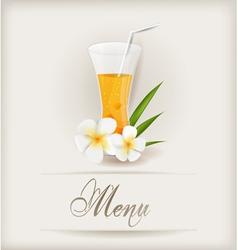 menu with juice vector image vector image