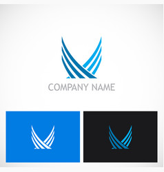 wing abstract fly logo vector image