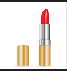 3d model of realistic red lipstick vector