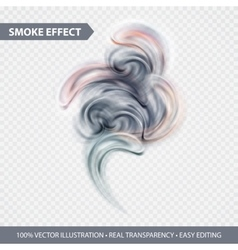 Abstract colored smoke effect background design vector image