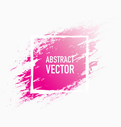 Abstract splash pink vector