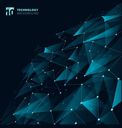abstract technology blue color triangles and low vector image