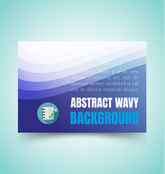 abstract waves set2 vector image