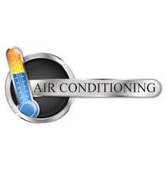 Air conditioning thermometer symbol cooling and vector