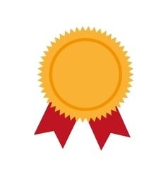 Award ribbon winner graphic icon vector