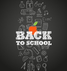 Back to scholl concept Different education symbols vector image