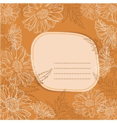 Background with daisy flowers vector