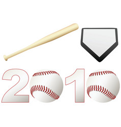 baseball 2010 season vector image