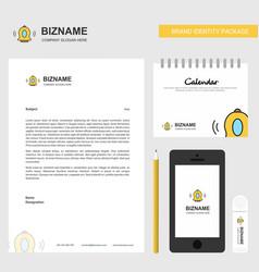Bell business letterhead calendar 2019 and mobile vector