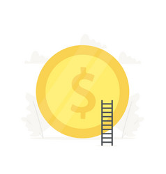 big gold coin business presentations on white vector image