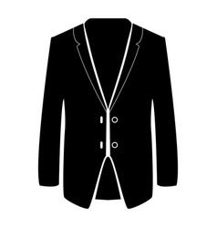 business suit black color icon vector image