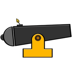 Cartoon cannon vector image