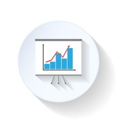 Chart flat icons vector image