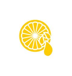 clean of lemon element design template vector image