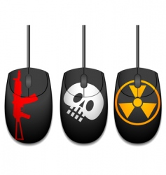 computer mice vector image