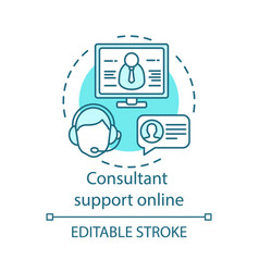 consultant support online concept icon vector image