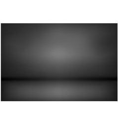 Dark and black gradient studio and room background vector