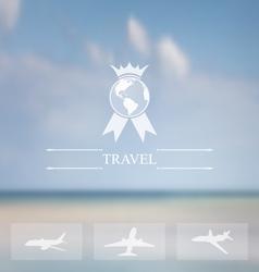 Design website for aviation company vector