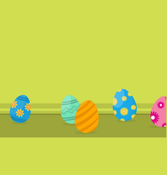 Easter egg on landscape backgrounds vector