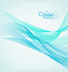elegant flowing blue wave design on transparent vector image