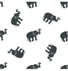 elephant pattern design african animals seamless vector image