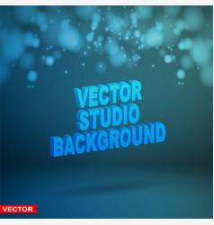 Empty dark blue studio background layered vector