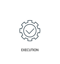Execution concept line icon simple element vector