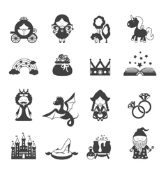 Fairy Tale Black Set vector image