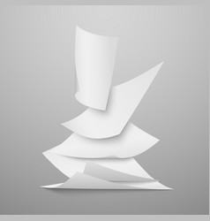 Falling document blank white papers pages vector