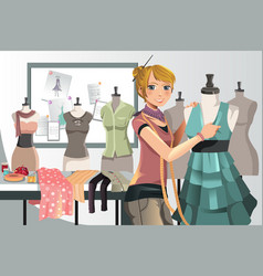 Fashion designer at work vector