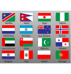flags of all countries of the world part 8 vector image