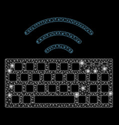 Flare mesh network wireless keyboard with flare vector