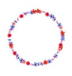 floral frame flowers arranged un a shape the vector image