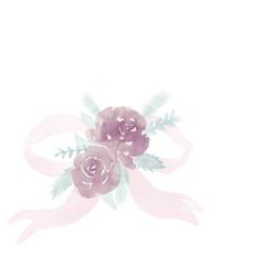 Flower ribbon vector