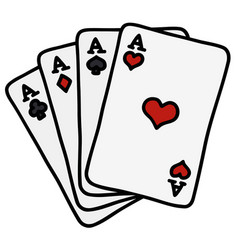 four poker aces vector image