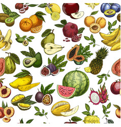 Fruits as seamless pattern background for wrapper vector