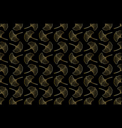 Ginkgo leaf pattern vector