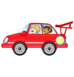 Girls in a car vector