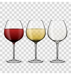 Glass with wine vector