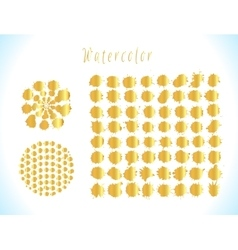 Gold splashes set vector