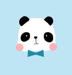hand drawing panda print design vector image